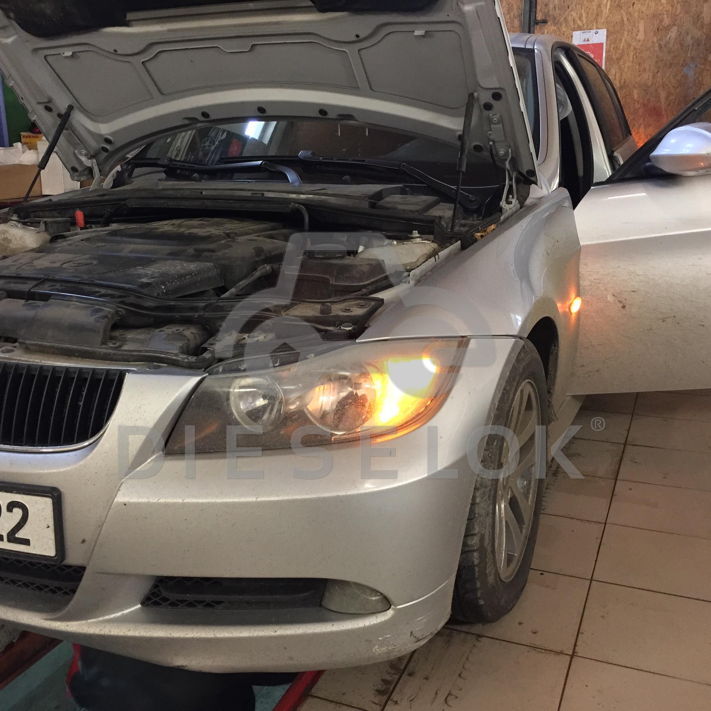 BMW 320d E91 Удаление сажевого фильтра