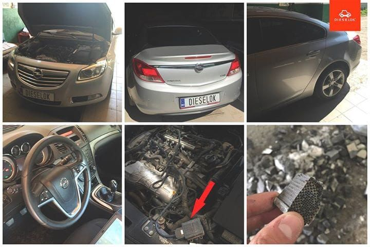 Удаление/ отключение сажевого фильтра Opel Insignia (Нажать для просмотра работы)