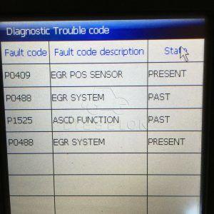 Коды ошибок, свидетельствующие о неисправности системы EGR