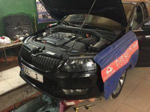 Skoda Octavia Radiator clean (1)