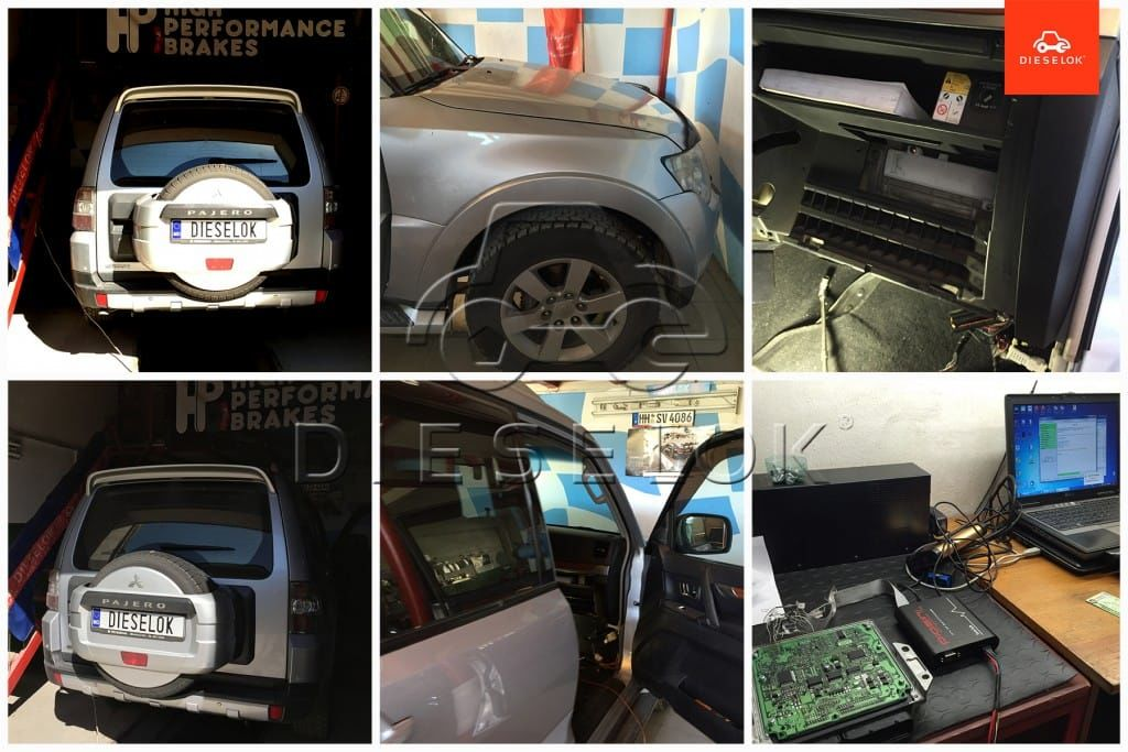 Mitsubishi Pajero 3.2 did 165 hp chip